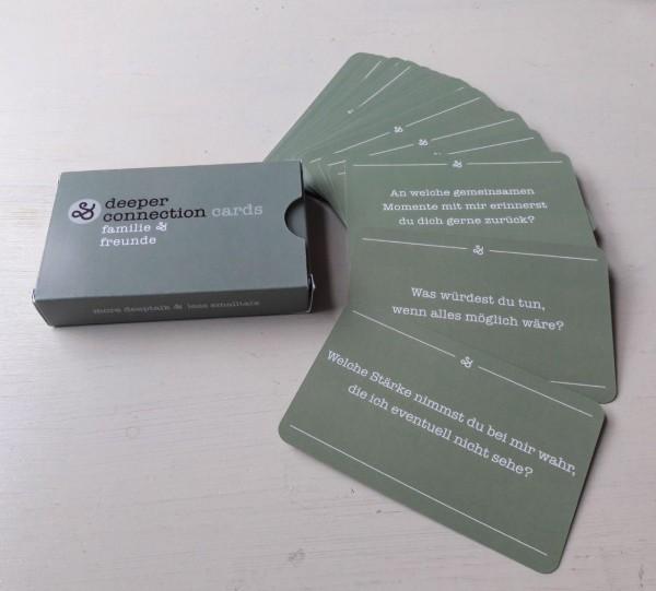 """Familie & Freunde"" deeper connection cards"